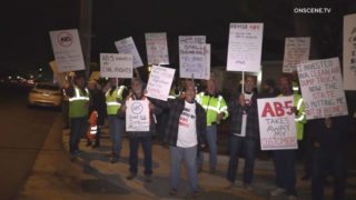 Assembly Bill 5 protest