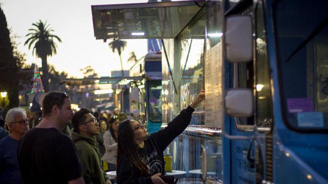 Food trucks at Balboa Park