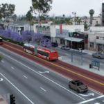 Dedicated bus lanes on El Cajon Boulevard