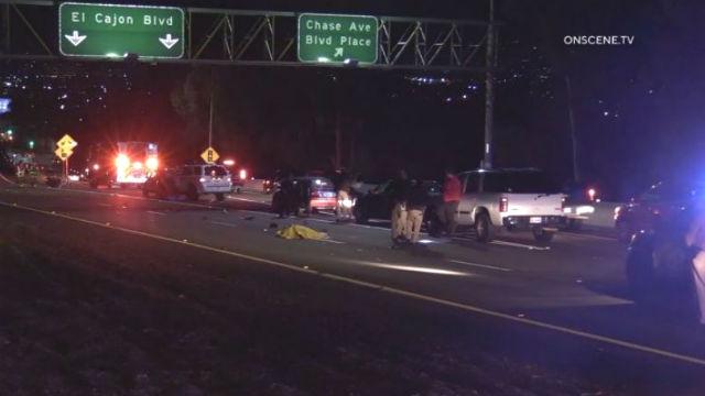 Fatal crash scene in El Cajon