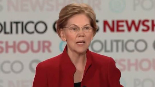 Elizabeth Warren at debate