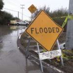 Flooded roadway in Otay Mesa