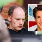 Lawyers for MSNBC host Rachel Maddow (inset) will have to deal with arguments by UC Santa Barbara linguistics professor Stefan Gries (left) that she indeed was taken literally by viewers in labeling One America News as Russian propaganda.