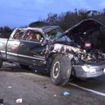 Toyota Tundra involved in accident