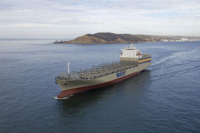 Lurline during sea trials