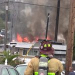 Burning mobile homes