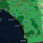 Rain forecast map