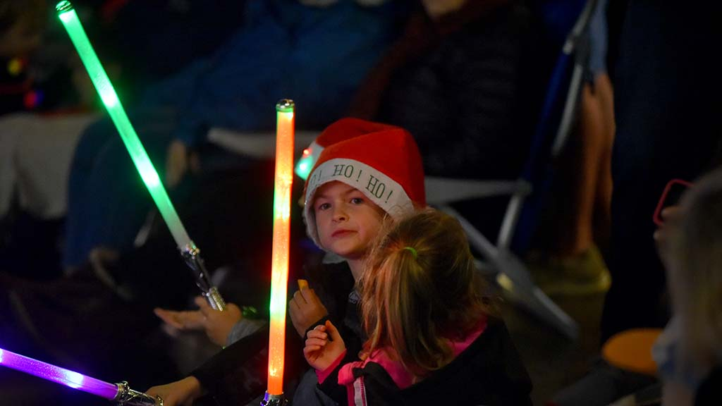 Many children were spectators and participants in the Ocean Beach Holiday Parade.