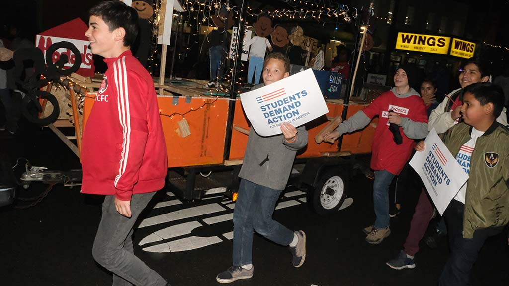 Youngsters with Students Demand Action marched for gun safety measures. Photo by Ken Stone