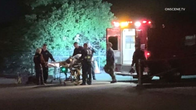Paramedics with shooting victim