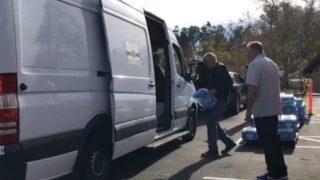 Water bottle distribution in Poway