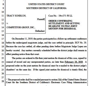 Court order on Sundlun-CGI settlement. (PDF)
