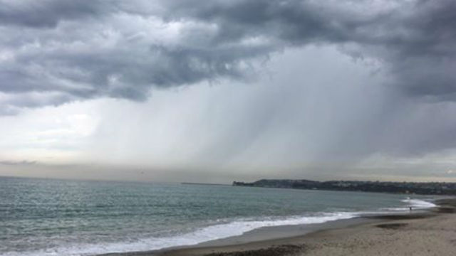 Rain on San Diego coast