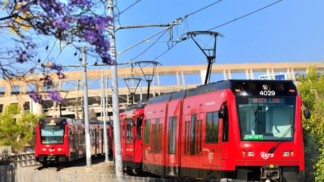San Diego trolley.