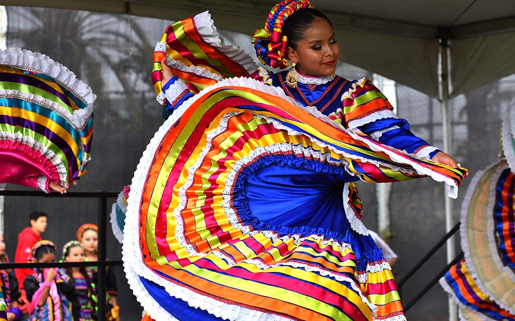 Ballet Folklorico dancers entertained families at Toys for Joy at Lincoln High School.