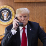 President Trump on the phone