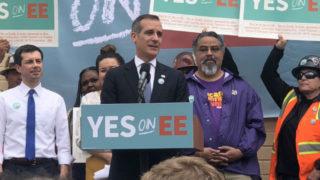 Los Angeles Mayor Erick Garcetti and presidential candidate Pete Buttigieg