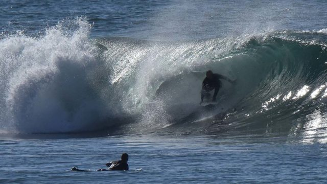 Surfers in La Jolla enjoyed the barrels in the 8-10 foot expected waves.
