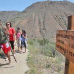 Hikers on trail to Cedar Creek Falls.