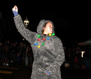 Whiskered cat had good moves at the Ocean Beach Holiday Parade.