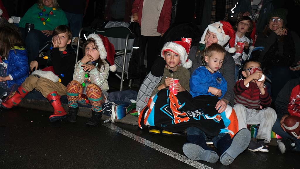 Snacks and drinks kept children fueled for the 90-minute Ocean Beach Holiday Parade.