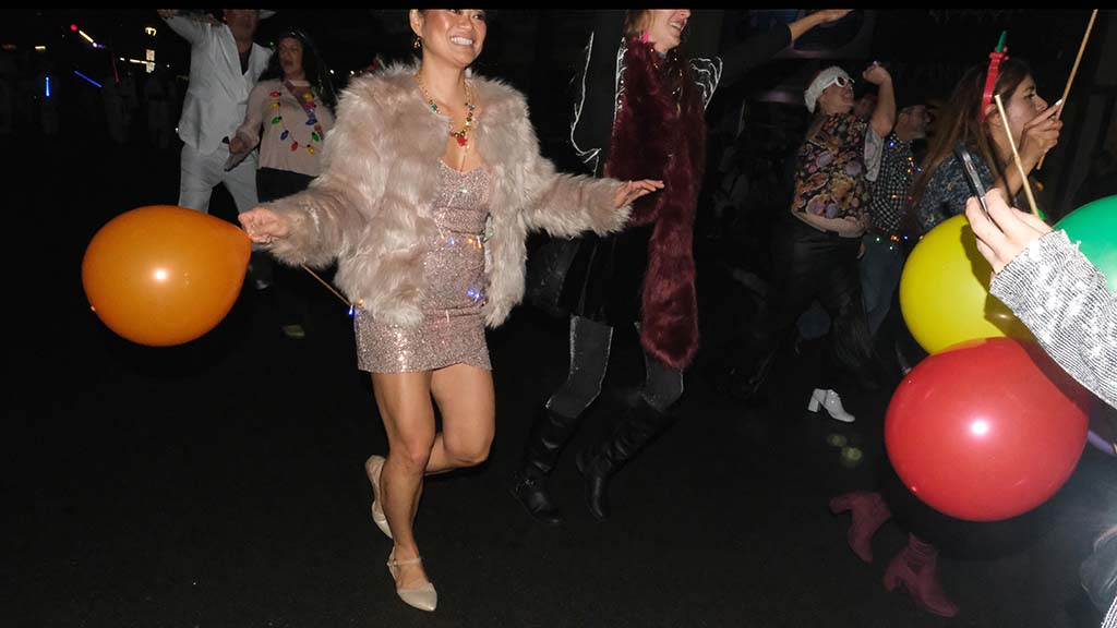 Group marched as Newport Avenue Disco Dancers.