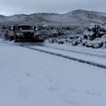 Conditions were poor on roads near Warner Springs.