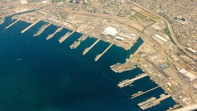Piers at 32nd Street Naval Station, the Naval Base San Diego.