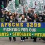 AFSCME 3299 workers during a strike