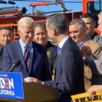 Joe Biden with Eric Garcetti