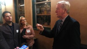 Michael and Monica Dunn of Crown Point were among about 20 people to quiz Bill Weld on his policies and path to the GOP presidential nomination.