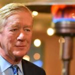 Warmed by heat lamps, former Massachusetts Gov. Bill Weld brought his GOP campaign for president to Liberty Station.