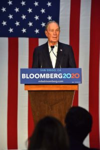 Presidential candidate Mike Bloomberg speaks about hiring veterans at Fuse, a local defense department contractor.