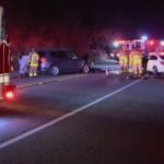 First responders at the scene of the accident
