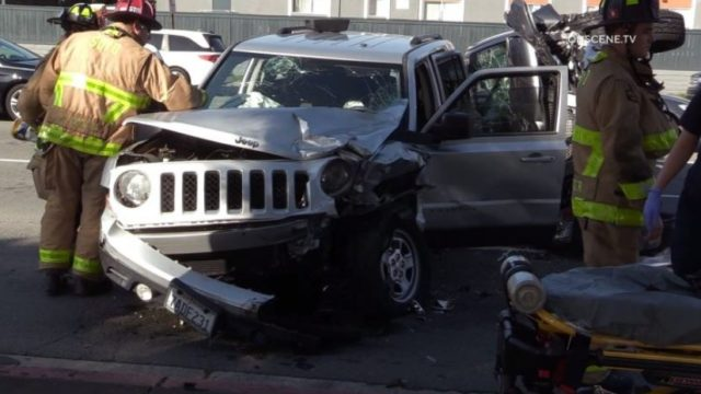 Jeep involved in pileup in Clairemont Mesa