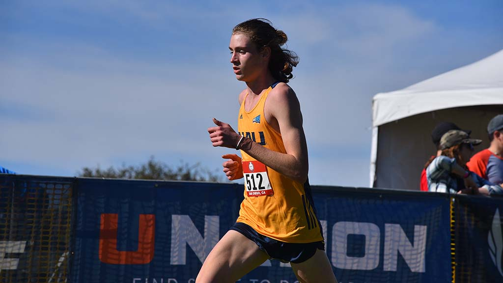 Corey Gorgas of Northern Arizona places first in the junior men race in the USATF Cross Country Championships.