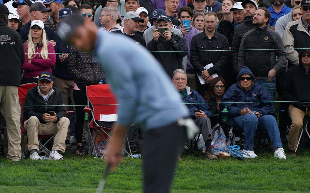 Thousands of fans gathered to watch the fourth round of the Farmers Insurance Open.