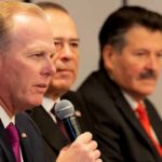 Mayor Kevin Faulconer speaks at the November 2019 summit of border-city mayors.