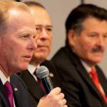 Mayor Kevin Faulconer speaks at the November 2019 summit of border-city mayors.