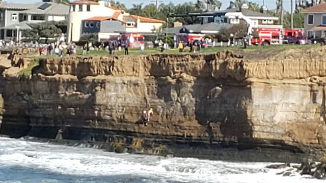 Rescue at Sunset Cliffs