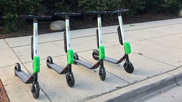 Lime Scooters parked on sidewalk will no longer be a common sight.