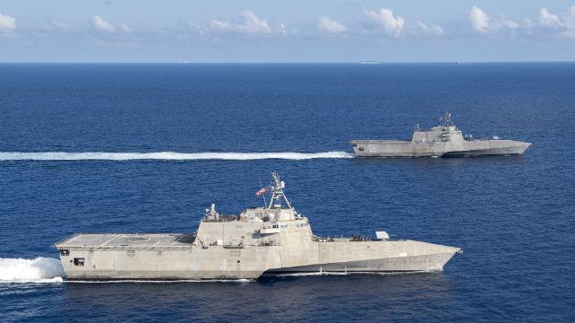 写真:サンディエゴに基づく沿岸戦闘艦船パトロール南海