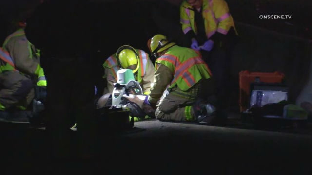 First responders administer CPR