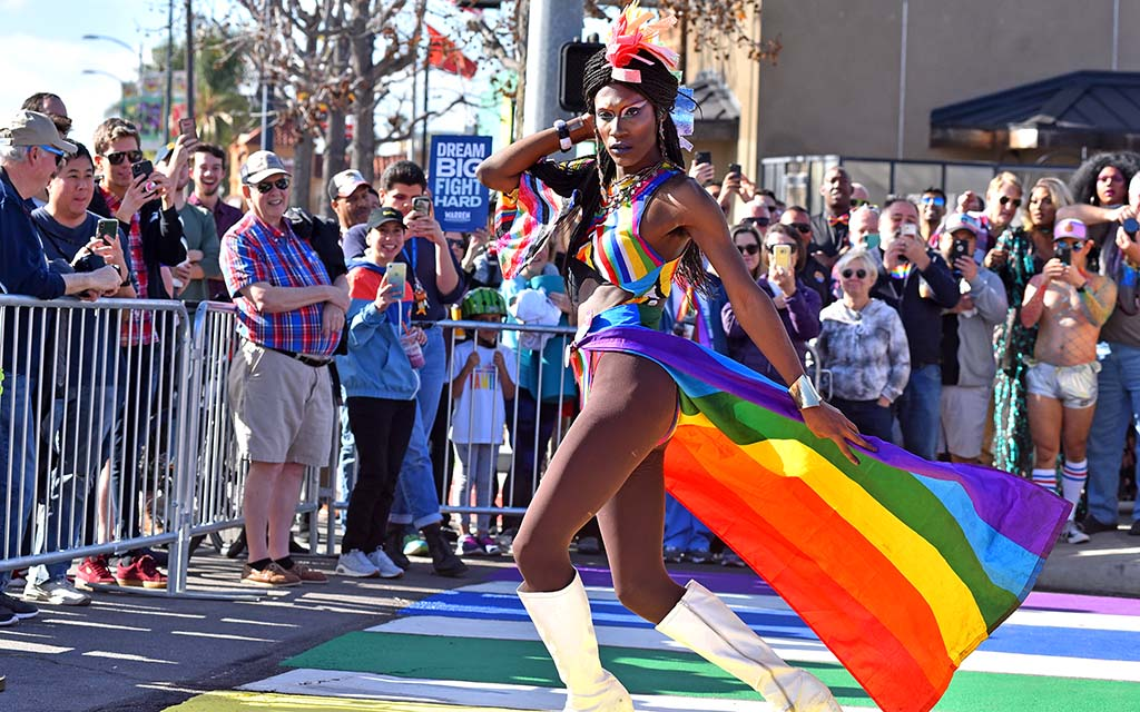 """Members of the LGBTQ community in Hillcrest enjoyed a """"catwalk"""" once it opened."""