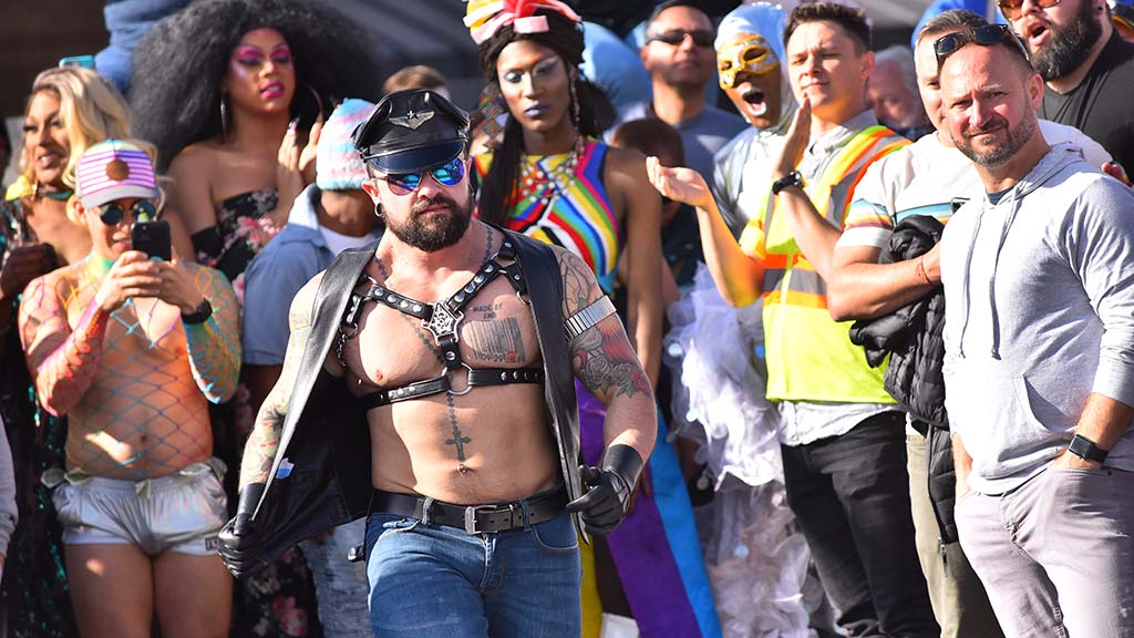 """Following the opening of the rainbow crosswalk, Hillcrest residents join the """"catwalk."""""""