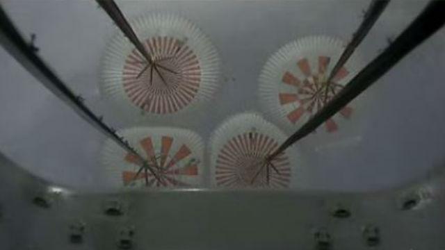 Crew Dragon parachutes deployed