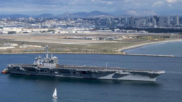 Φωτογραφία: USS Theodore Roosevelt Κεφάλια στον Ειρηνικό Ωκεανό στην Ανάπτυξη