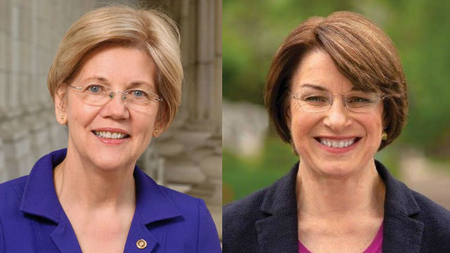 Elizabeth Warren and Amy Klobuchar