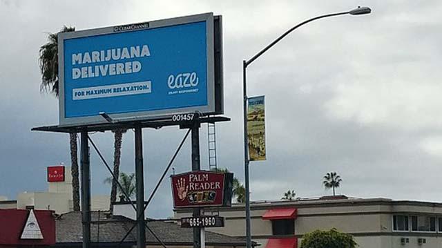Billboard on San Diego's Rosecrans Street taken in March 2018.
