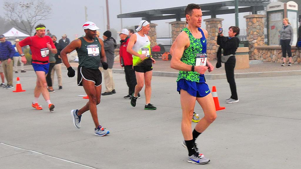 Chris Mosier at 39 was in only his second 50K race walk — and third race walk period.